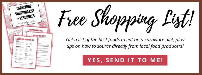 Carnivore Diet Shopping List free pdf download