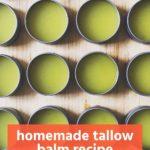 easy DIY homemade tallow balm recipe