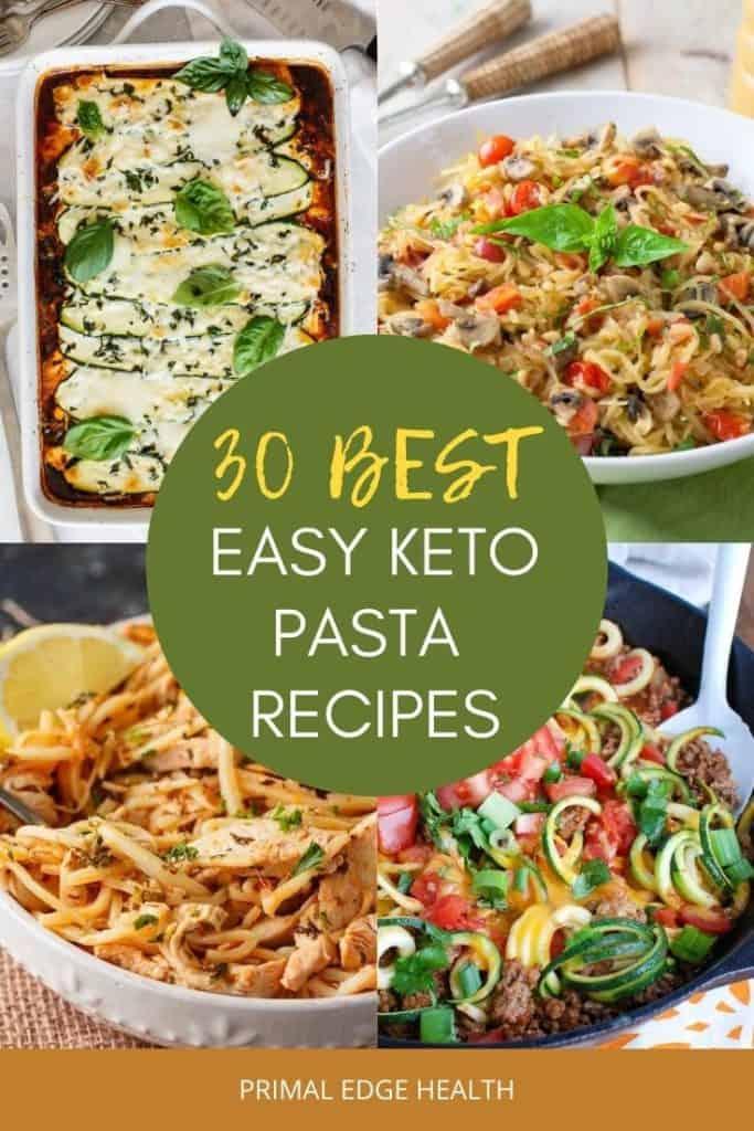 best easy keto pasta dinner recipes
