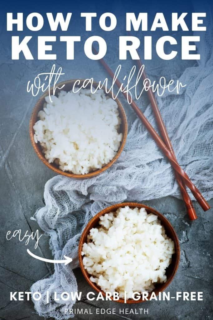 How to Make Keto Rice with Cauliflower