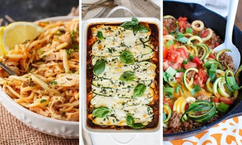 Low carb pasta alternatives and how to use them