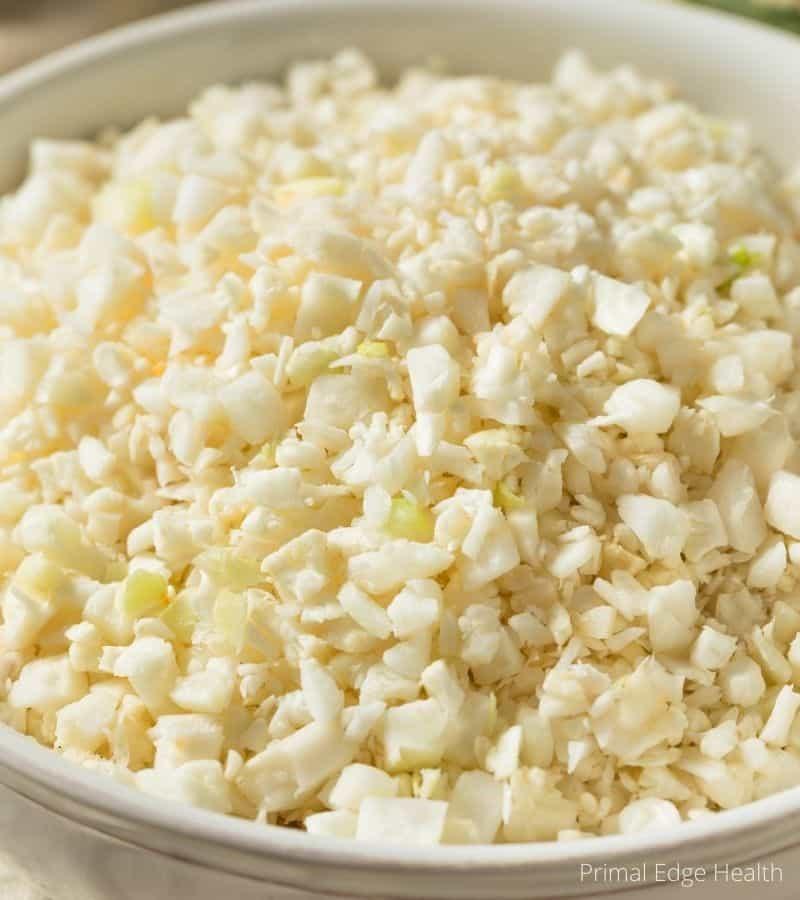 make cauliflower rice no food processor