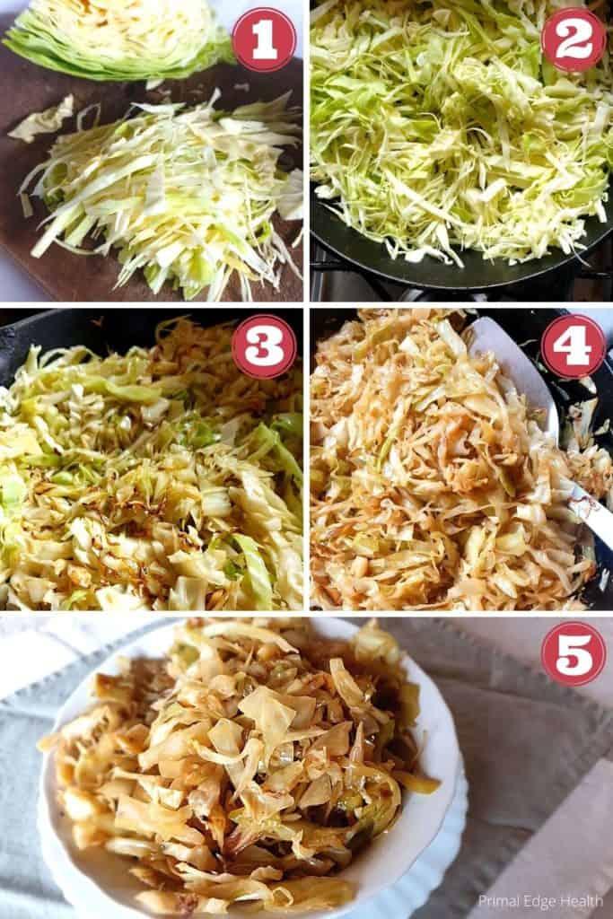 braising vegetables step by step process