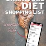 zero carb carnivore diet shopping list
