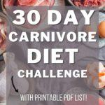 carnivore diet printable challenge list