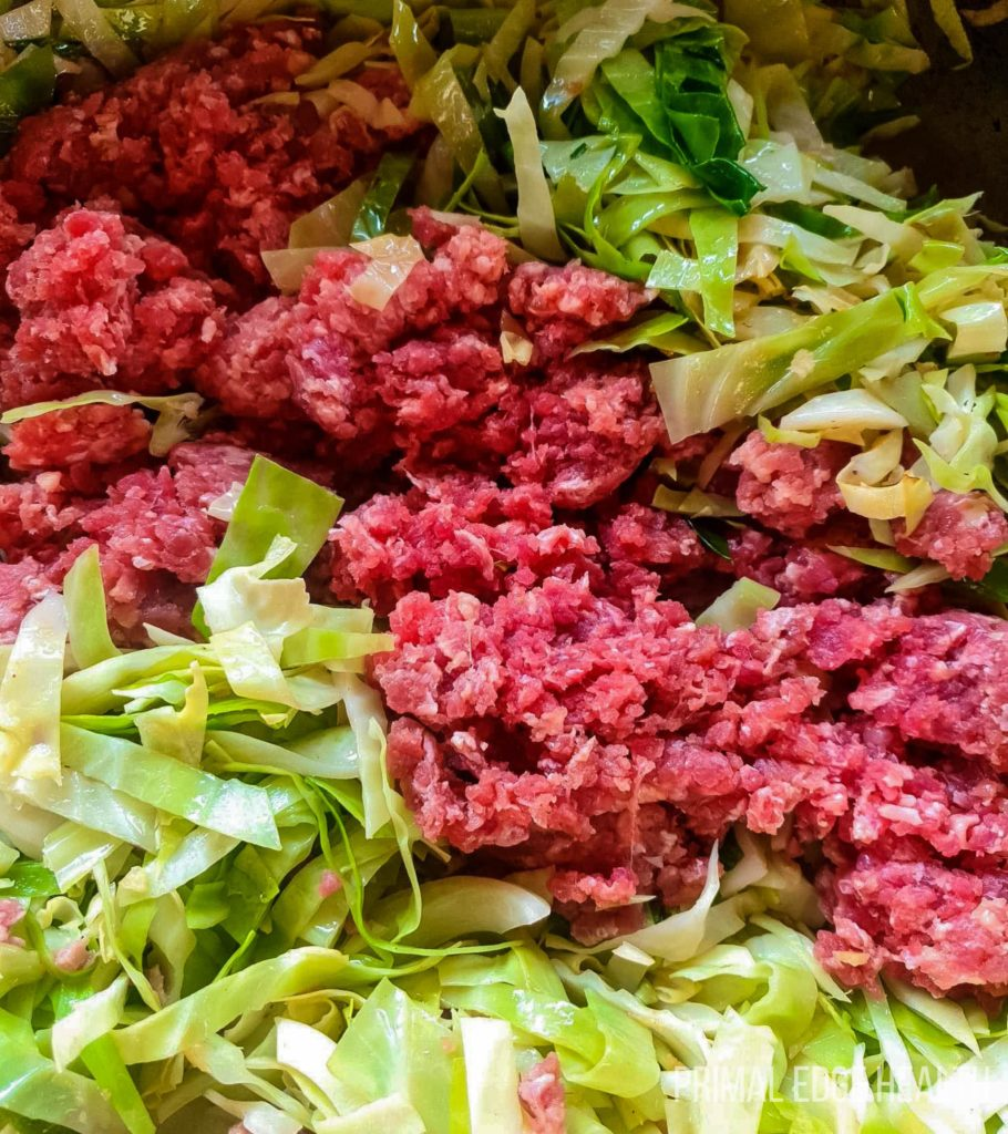 ground beef with cabbage recipe