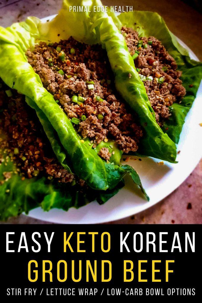 Easy Keto Korean Ground Beef recipe