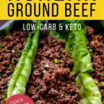spicy ground beef Asian recipe