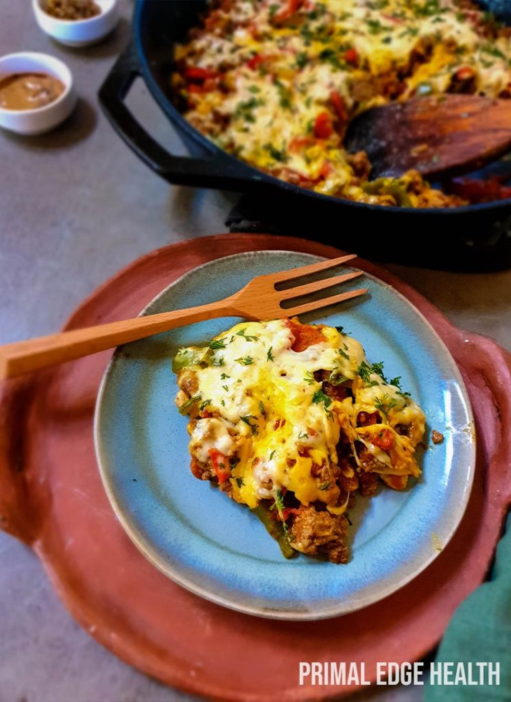 Cheesy taco skillet low carb