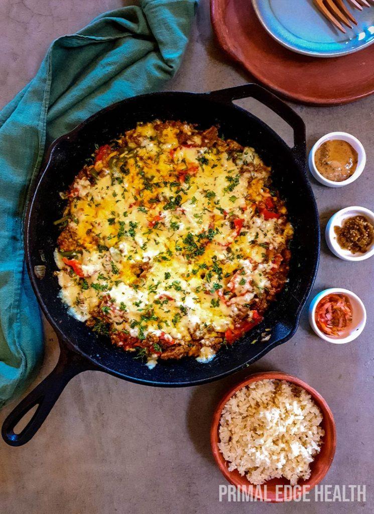 Beef taco skillet dinner recipe