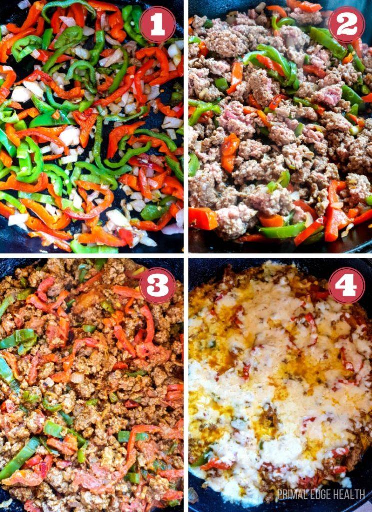 step by step taco skillet recipe
