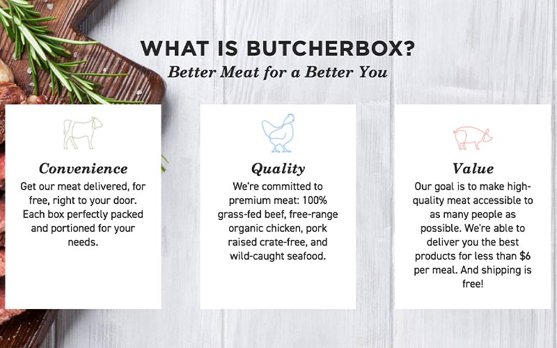 Reviews on Butcher box meats