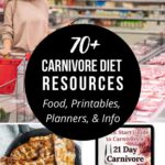 70+ Carnivore Diet Resources: Food, Printables, Planners, & Educational Material